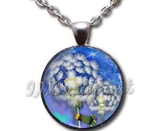 40% OFF - Dandelions Make A Wish - Round Glass Dome Pendant or with Necklace by IMCreations -  NT104