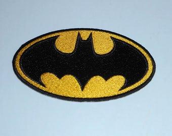 Iron On Applique Batman,Large Iron On Batman Applique.....Original DC Comic's ,Justice League Iron On