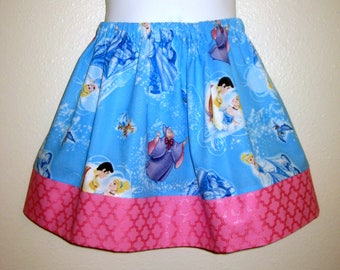 Disney's Inspirted, Blue Cinderella girls skirt, 6M to size 8