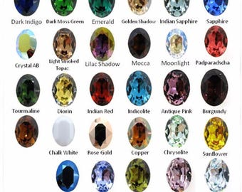 18x13mm Oval Swarovski® 4120 Crystal 33 Different Colors (S41201813)
