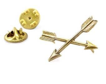Best Arrow Lapel Pin, Crossed