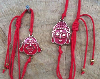 Buddha Friendship Bracelet/ Chinese Thread /Red string of fate/ Wish Bracelet/ Stacking hand made jewelry/ Colombian designs/ Free Shipping