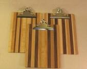 Wooden Clip Board - Multiple Woods