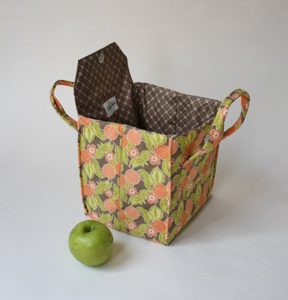 orange blossom fall lunch bag insulated lunch bento box. Black Bedroom Furniture Sets. Home Design Ideas