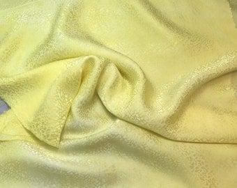 "Hand Dyed Sunshine Yellow PEBBLES - Silk Jacquard Fabric - 9""x22"" remnant"