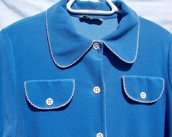 Vintage Ladies Robe Vassarate Blue small medium