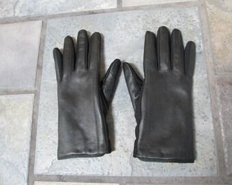 Aris Black Leather Gloves