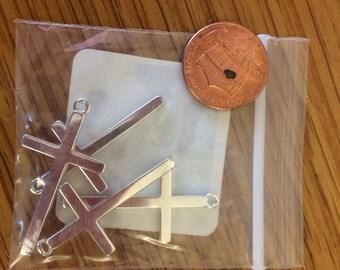 Lg sterling silver crosses