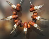 Claws, Cave Painting - Handmade Lampwork Beads Set (SRA)