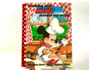 Cooking with Mickey Around our World First Printing 1986