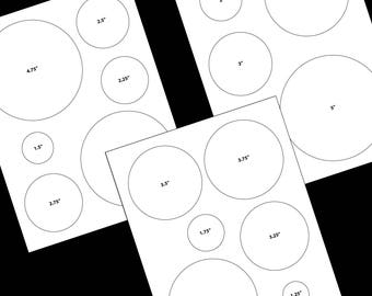 Quick and Simple Printable Circle Template-INSTANT DOWNLOAD