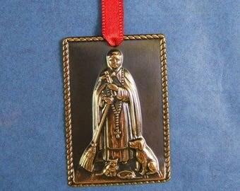 Shiny Copper San Martin de Porres Milagro - Patron Saint of Racial Harmony