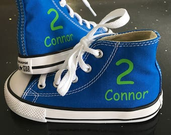 Personalized Infant and Kids Custom High Top Converse Shoes