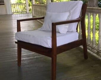 Custom Slipcovered Pillow Drop Cloth Pillow Covers Sofa Pillows