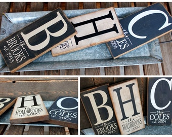 Custom Family Name Monogram with Est. Year Sign...