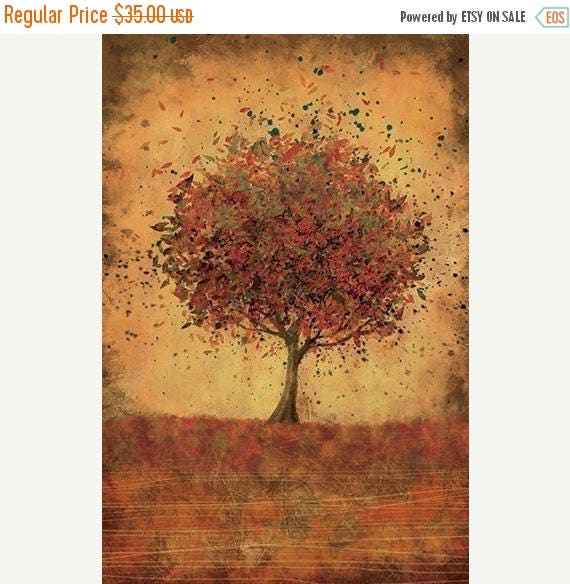 Mothers Day Sale Fall Decor Wall Art - Welcome Change (burnt orange) - 12x18
