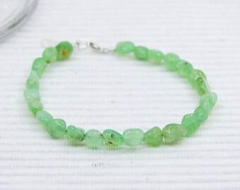 Chunky chrysoprase bracelet