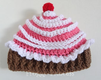 Cupcake Hat 6-12 Month Ready to Ship Baby Hat Kids Hat Gifts for Children Christmas Present