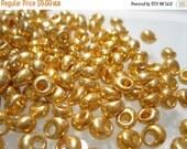 75% Off Miyuki Fringe Beads, 100 Gold 4mm Galvanized Glass Fringe Beads MA 1052 / No. 27