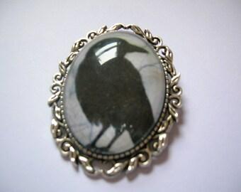 gothic fantasy raven brooch
