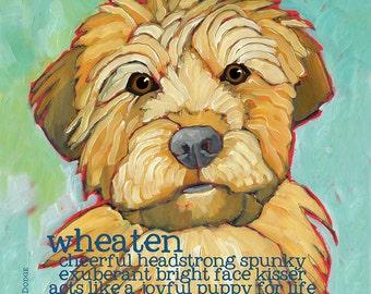Wheaten pillow soft coated wheaten home decor wheaten dog breed art