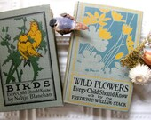 Vintage Wild Flowers and Birds Books, Childrens Books, 1900s, Lots of Photographs
