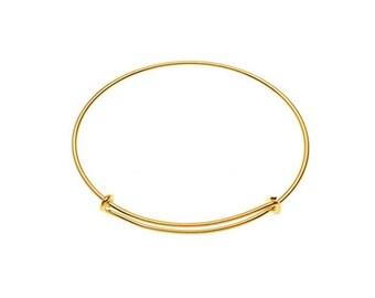 Bermuda Bracelet, Bangle Bracelet, Adjustable Bracelet, Charm Bracelet, Wire Bracelet, Silver, Gold, Base Pieces, Charm Bar