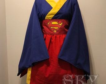 Supergirl Kimono Dress