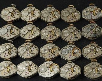 Vintage Antique Watch Movements Steampunk Altered Art RE 100