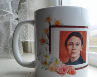 Saint Gemma Galgani  Mug READY TO SHIP, Taken from my Origional Artwork, Customize Your Own Saint Mug With or Without Prayer Great Gift Idea