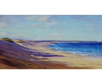 Large Painting Original Beach Scene Seascape Impressionist Ocean Wall Art