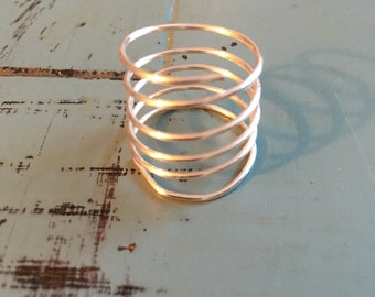 Gold or Silver Coil Ring