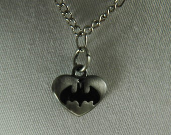 Doll, necklace, american, made, girl, doll jewelry, accessories, 18 inch doll, Silver, chain, batman, charm