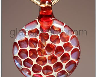 Glass Honeycomb Pendant lampwork focal bead - Glass Peace glass jewelry