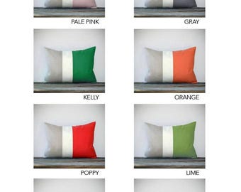 Spring / Summer Colorblock Pillow Cover - Original Design by JillianReneDecor - Modern Home Decor - Decorative Pillows - Custom Colors