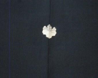 Vintage haori S385,  black silk,