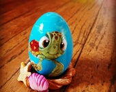Squirt Hand painted wooden egg
