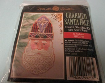 Mill Hill Beaded Holiday Pin or Ornament St. Nicholas Kit MHCSF16