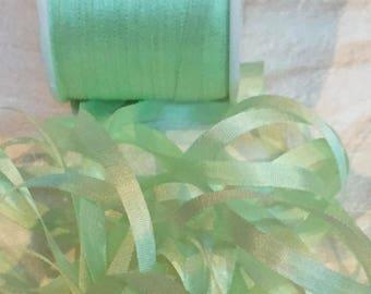 Gorgeous 4mm Mint Silk ribbon ~ 5 yards   #VAB154