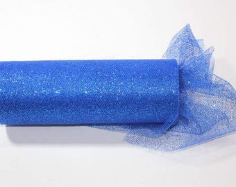 54 x 15 yd  Bolt of Top Quality  GLITTER Tulle Bolt -- ROYAL