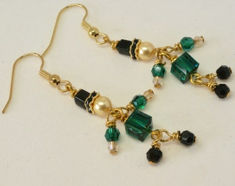 Fun Dancing Leprechaun Earrings, St. Patrick's Day Earrings, Irish Earrings, Celtic Earrings, Green Earrings, Celtic Jewelry,  Gift for Her