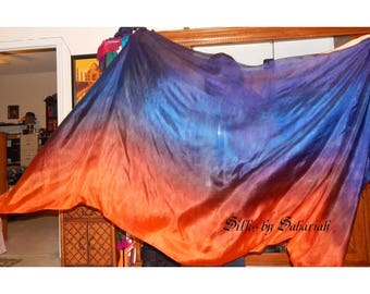 "Sahariah's Silk Belly Dance Veil Rectangle original ""Killer Silk"" 3 Yard Rectangle Veil Tribal Silks by Sahariah"