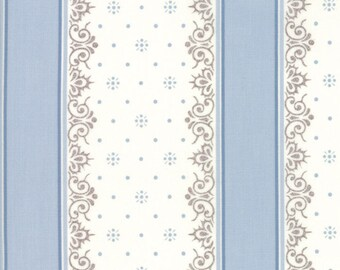 Lily Will Revisited Blue Gray Stripe fabric | Moda 2805 25 | Cotton Quilting fabric