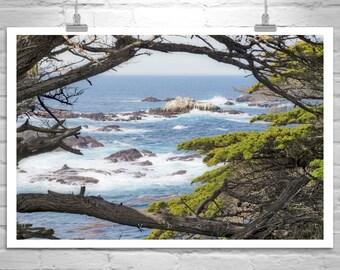 Monterey Peninsula, Ocean Photography, Point Lobos, Carmel by the Sea, California Coast, Big Sur, Seascape Print, Seacoast Art, Handmade