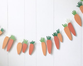 Carrot Bunting - Peter Rabbit Inspired- Garland -Easter Decor -Spring Photo Prop