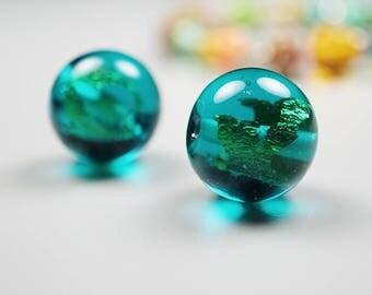 Blown Glass Art // Murano Glass Jewelry // Glass Art // Contemporary Necklace