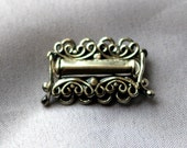 1 Oxidized Sterling Silver 4-strand Filigree box clasp 17.4mm