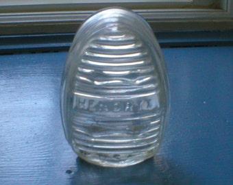 Hendryx Birdcage Feeder Seed Water Holder Art Deco Clear Glass Vintage Bird Cage