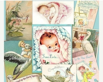 SALE BABY Collage 01 Digital Images -printable download  file-