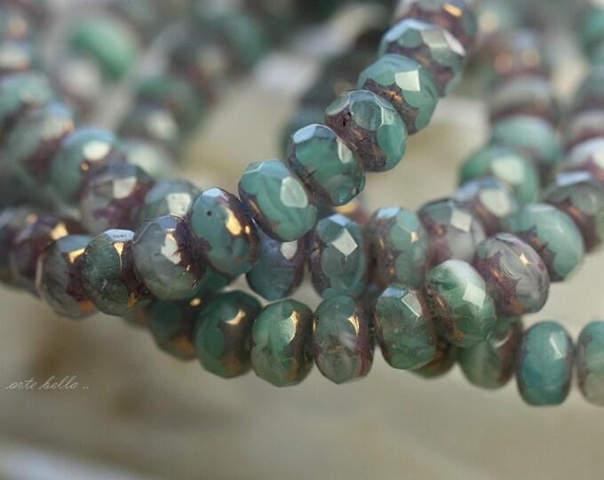 SABRINA .. 30 Premium Picasso Czech Rondelle Glass Beads 3x5mm (B37-st)